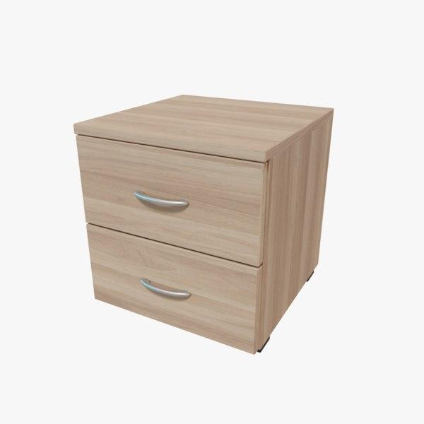 free 3ds model veneered nightstand
