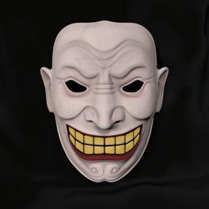 clown mask 3d model