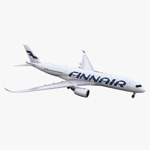 3d model a350-900 finnair