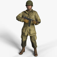 Soldier WW2 USA Paratrooper 101st Airborne HD