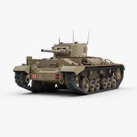 ww2 tank valentine 3d max
