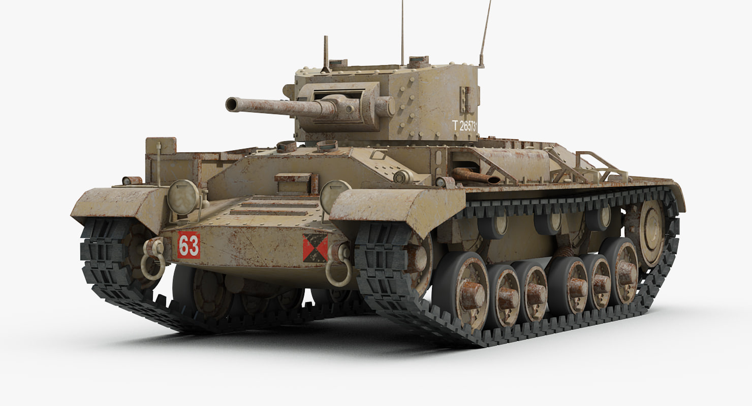 Schön Ww2 Tank Valentine 3d Max
