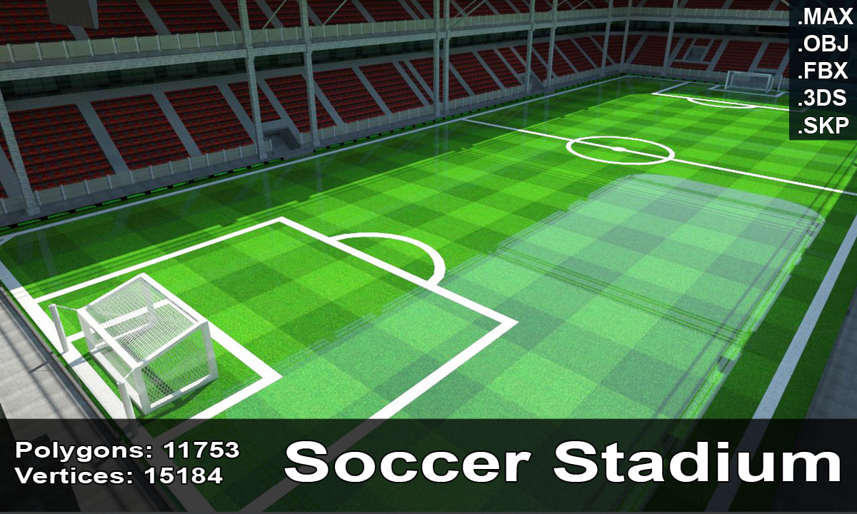 3d model soccer stadium