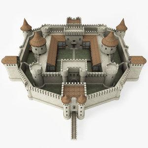 ready medieval castle 3d model