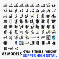 83 Models Gym + Fitness + Weight Collection