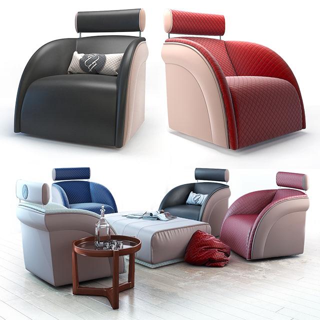 3D armchair tecni nova pouf
