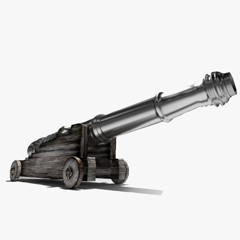 gun metal 3d model