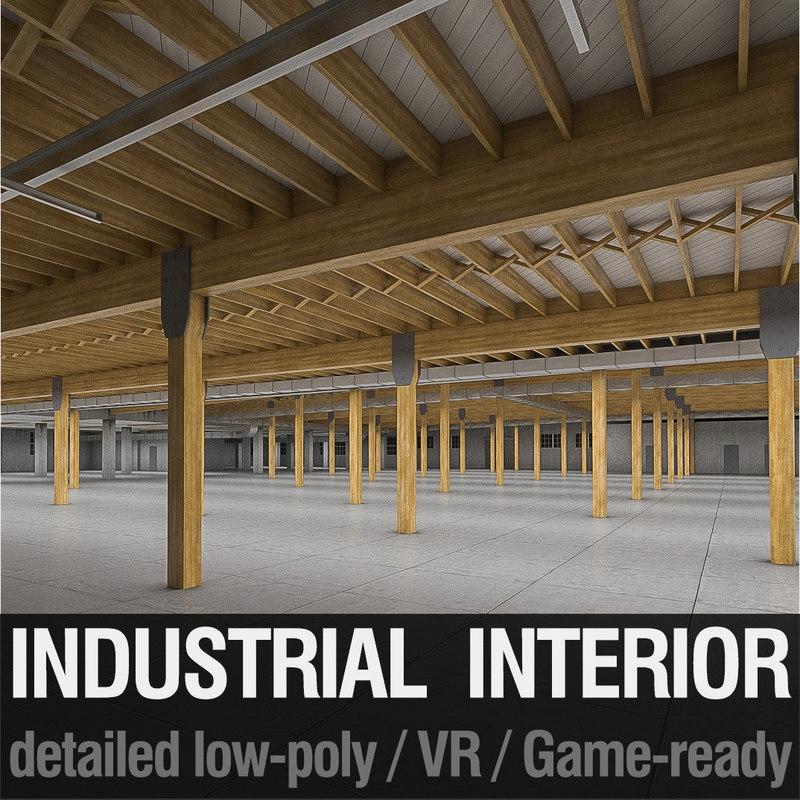 art deco industrial building 3d 3ds