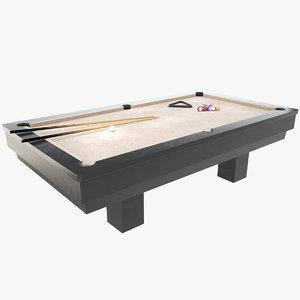 3D luxury pool table model