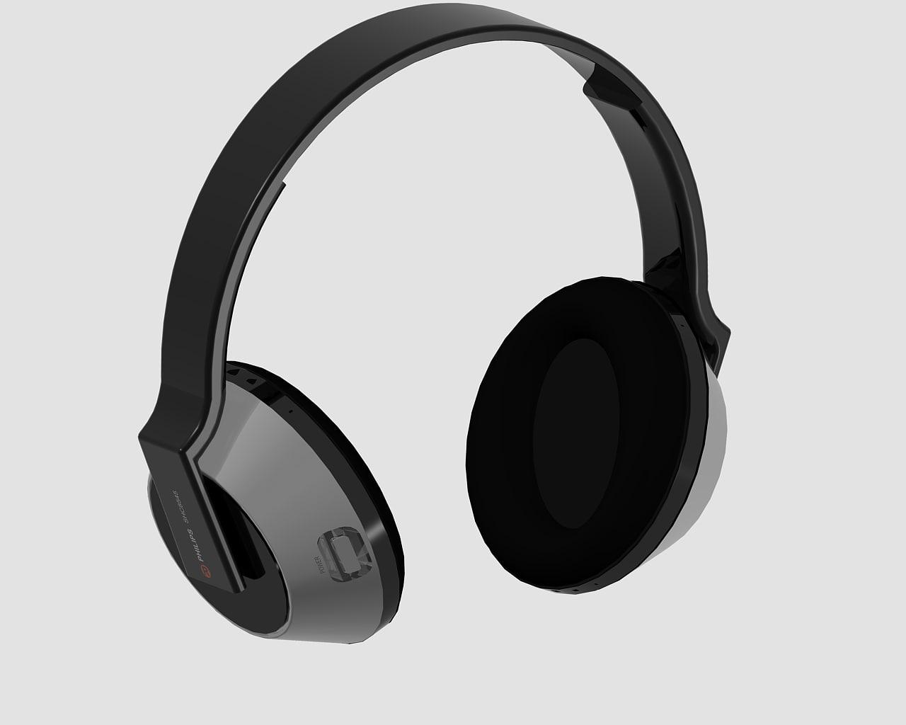 philips headphones 3d dwg