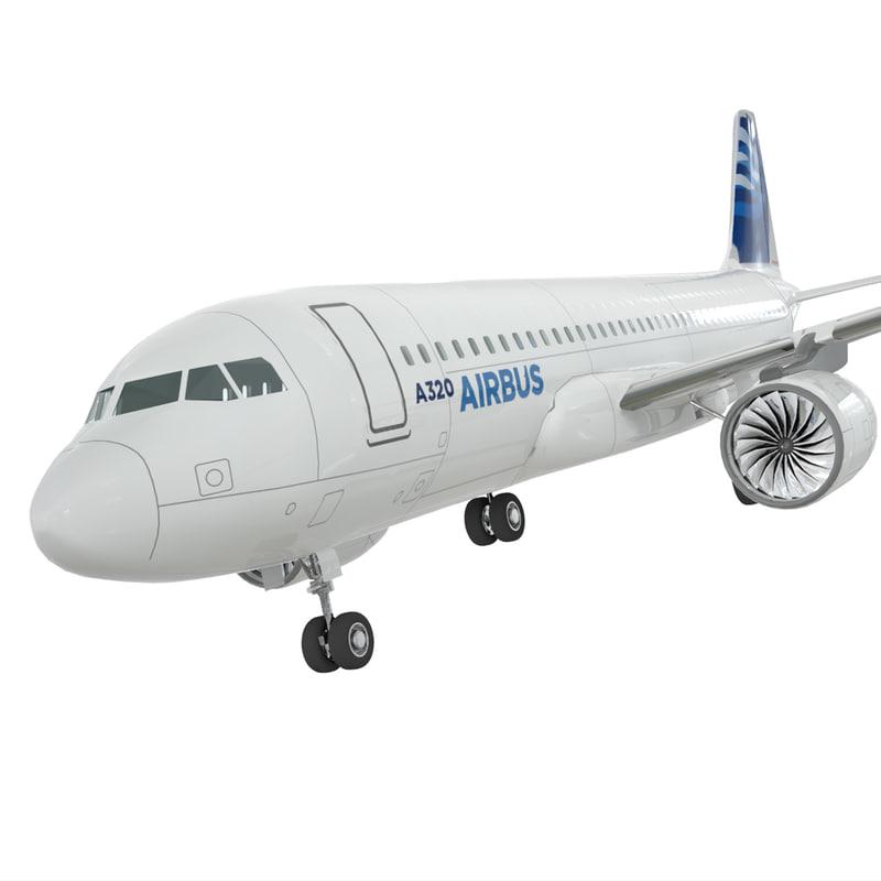 3d model airbus a-320