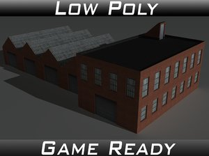 factory building 8 3d 3ds