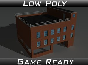 3d obj factory building 10