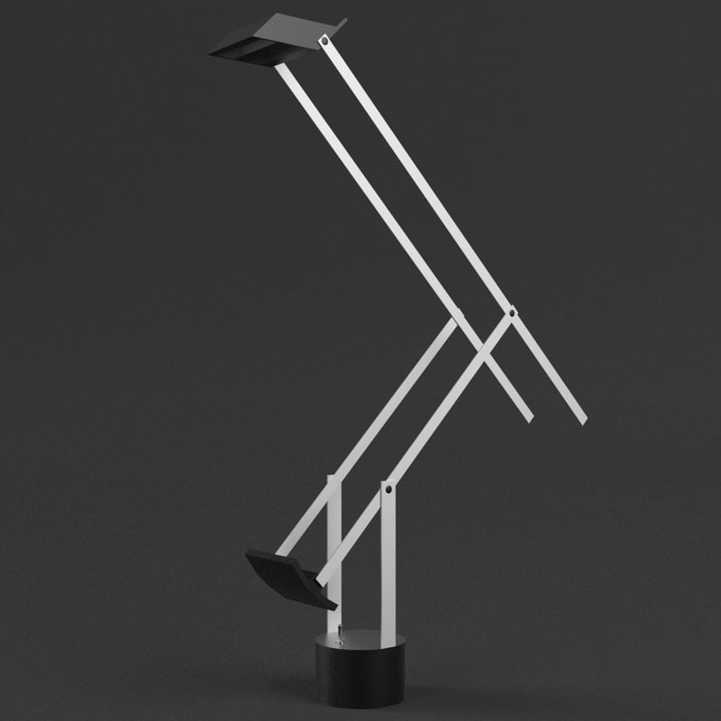 3d office desk lamp light model