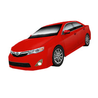 3d model sedan toyota camry
