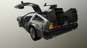 3d delorean car model