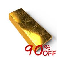 3d obj gold kilo