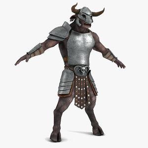 3d minotaur armor
