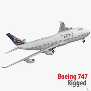 boeing 747 400er united max