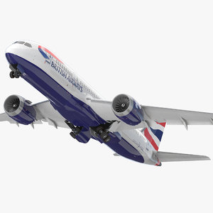 boeing 787-8 dreamliner british airways 3d 3ds