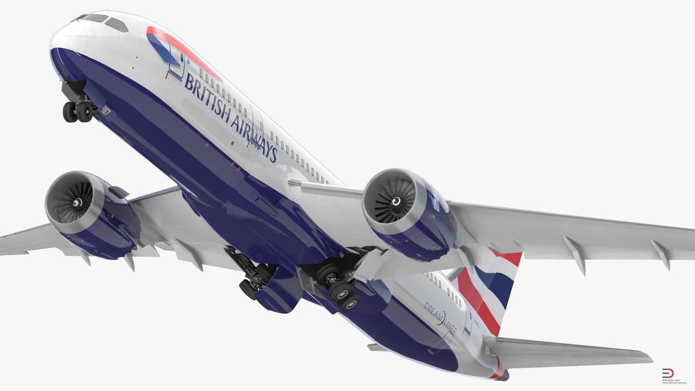 boeing 787-8 dreamliner british airways 3d 3ds