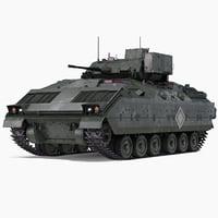 Bradley M2 Green 3D Model
