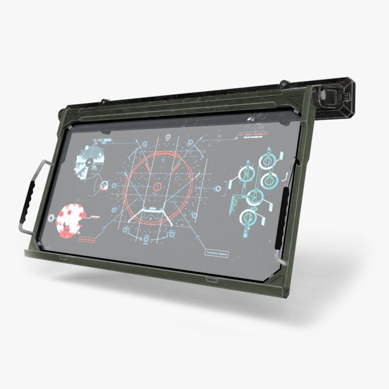 sci-fi monitor 3d max