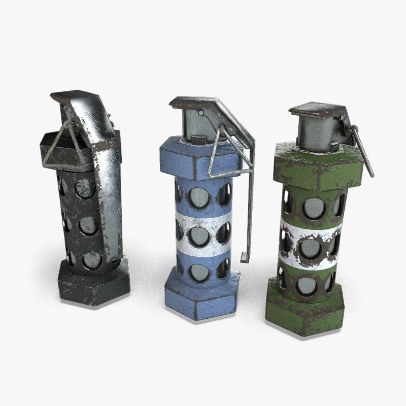 flashbang grenade 3d model