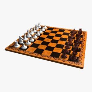 chess games 3d model