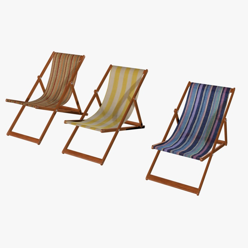 3d model deckchair deck chair