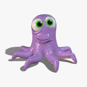 cartoon octopus 3ds