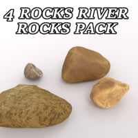 set river rocks 3D model