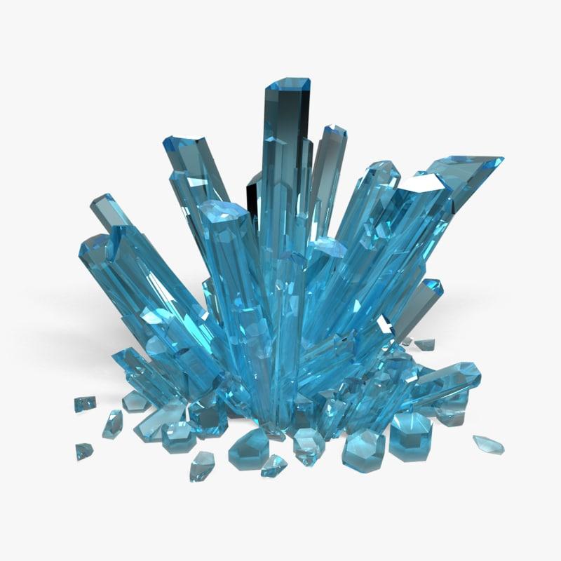 crystals minerals 3d 3ds