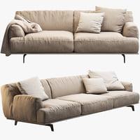 tribeca poliform sofa seat 3d max