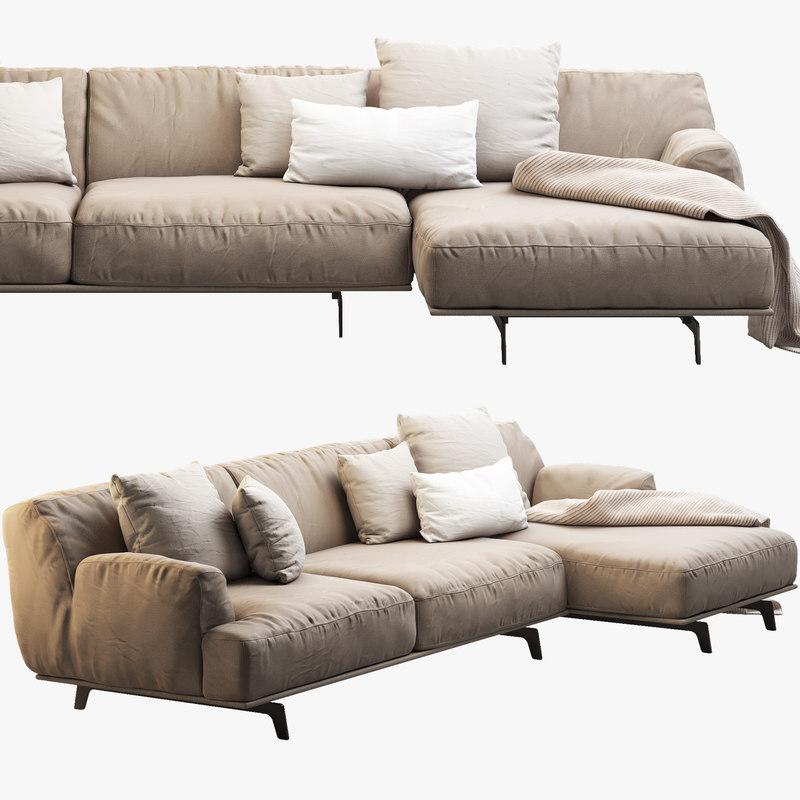 3ds tribeca poliform sofa seat