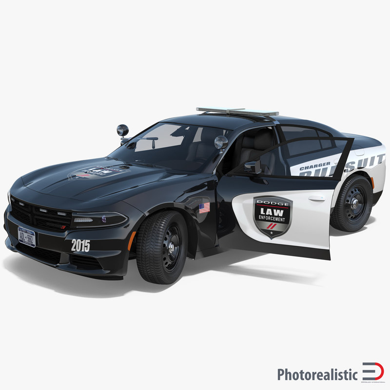 3d model dodge charger 2015 police car