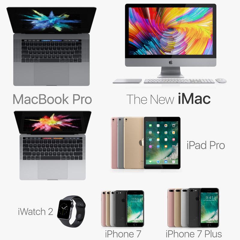 apple electronics 2016 3d max