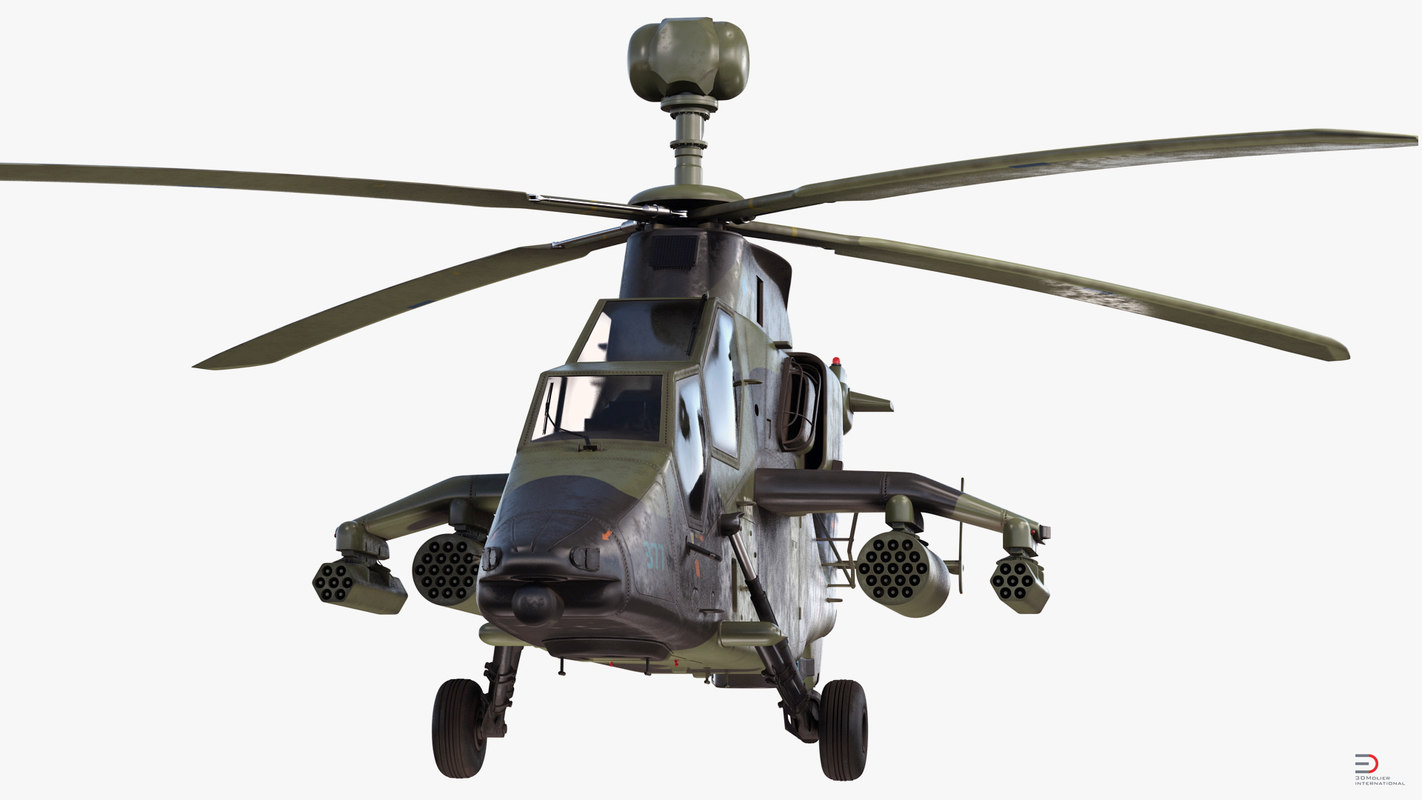 eurocopter tiger ec665 german 3d model