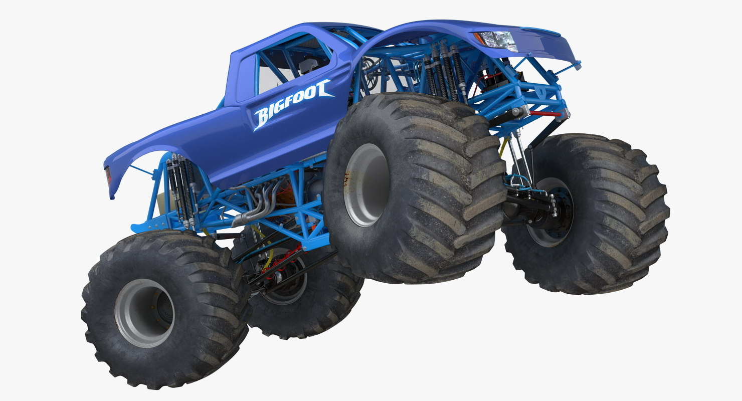 3d model monster truck bigfoot generic