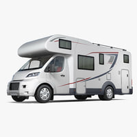 3d model motorhome generic rigged