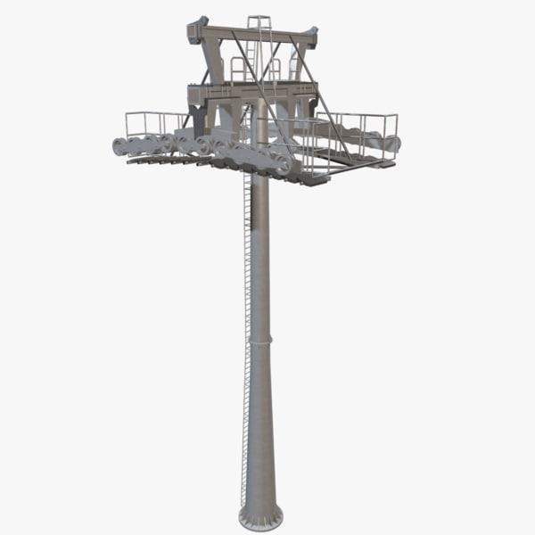 3d ropeway tower model