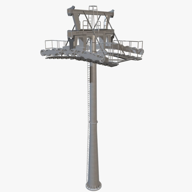 3d ropeway tower model