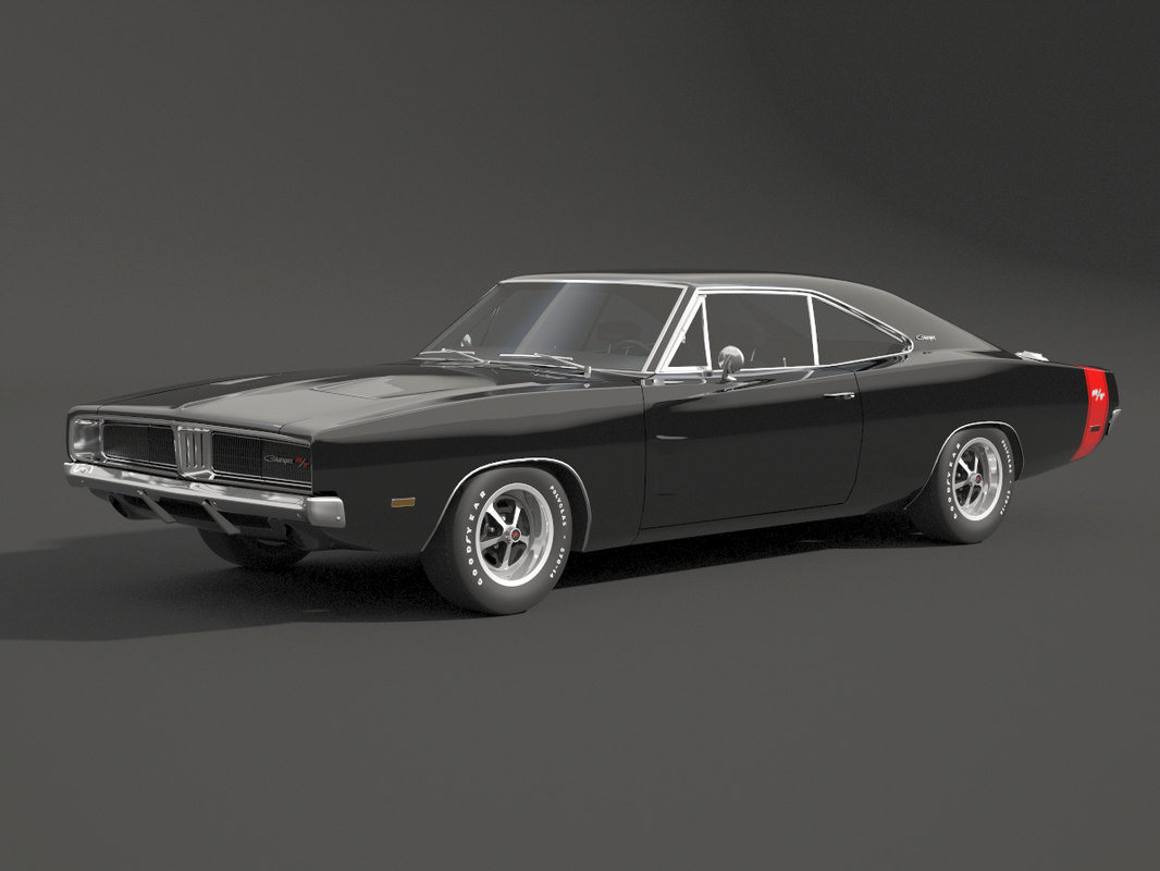 3d dodge 1969 charger