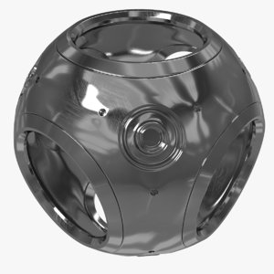 metal sphere 3d max