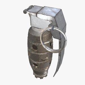 3d model sci-fi grenade