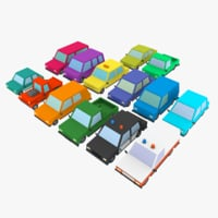 3d cartoon cars vehicle