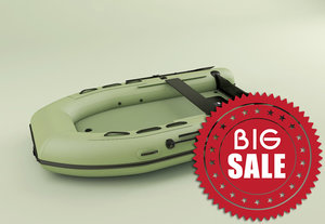 3d boat zodiac raft model