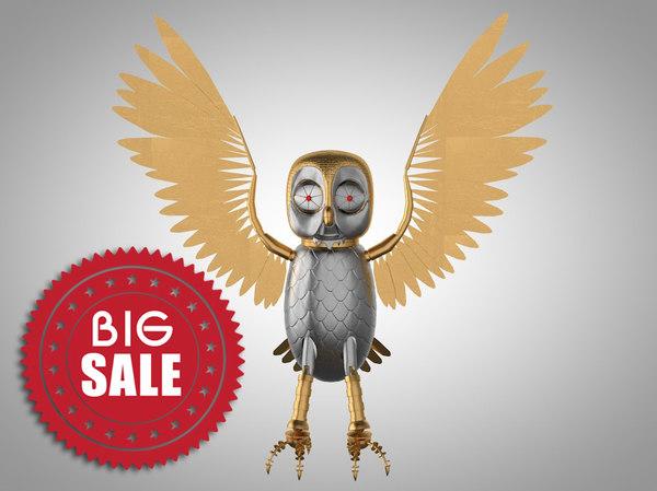 3d model robotic owl