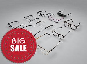 glasses 3d c4d