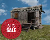 3d model woodcutter hut